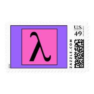 Lambda Postage Stamp
