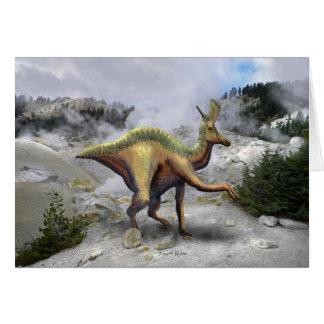 Lambeosaurus Dinosaur Card