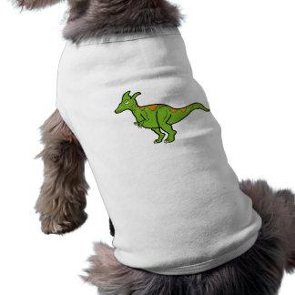 Lambeosaurus verde playera sin mangas para perro