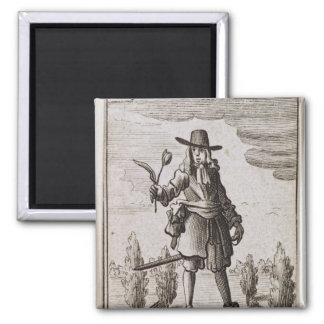 Lambert Simnel, Knight of the Golden Tulip 2 Inch Square Magnet