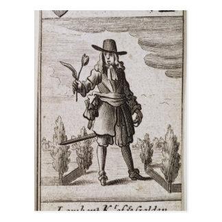 Lambert Simnel, Knight of the Golden Tulip Postcard