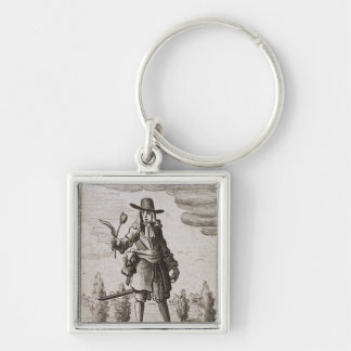 Lambert Simnel, Knight of the Golden Tulip Silver-Colored Square Keychain