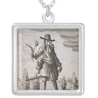 Lambert Simnel, Knight of the Golden Tulip Square Pendant Necklace