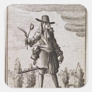 Lambert Simnel, Knight of the Golden Tulip Square Sticker