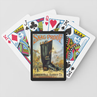 Lambertville Rubber Co Antique Ads Cards Deck NJ Bicycle Playing Cards