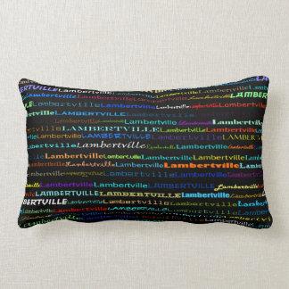 Lambertville Text Design I Lumbar Pillow