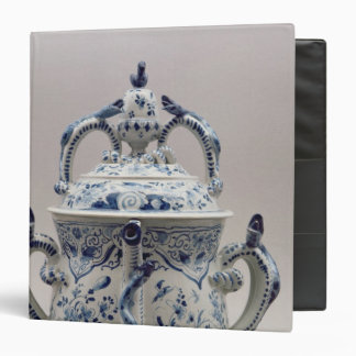 Lambeth Delftware posset pot, blue and white Binder