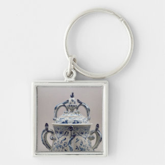 Lambeth Delftware posset pot, blue and white Keychain