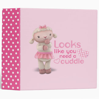 Lambie - Looks Like You Need a Cuddle 3 Ring Binder