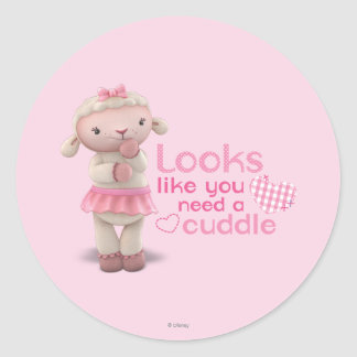 Lambie - Looks Like You Need a Cuddle Classic Round Sticker