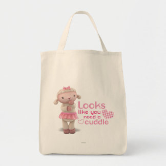 Lambie - Looks Like You Need a Cuddle Grocery Tote Bag