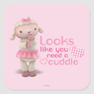 Lambie - Looks Like You Need a Cuddle Square Sticker