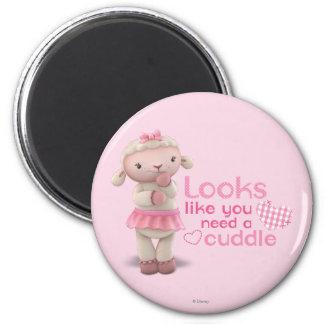 Lambie - los parecer usted necesitan una abrazo imán redondo 5 cm