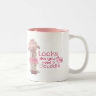 Lambie - los parecer usted necesitan una abrazo taza de café de dos colores
