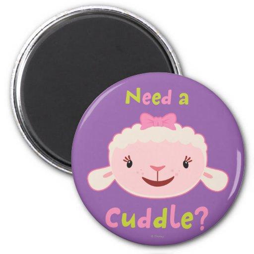 Lambie - necesite una abrazo 2 imán redondo 5 cm
