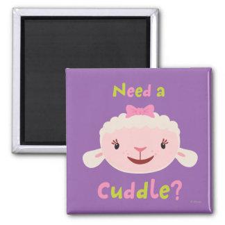 Lambie - necesite una abrazo imán cuadrado
