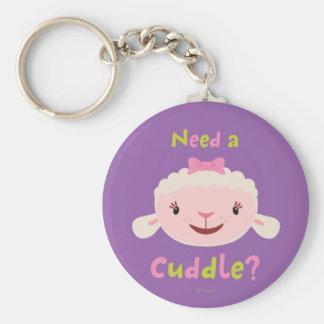 Lambie - necesite una abrazo llavero redondo tipo pin
