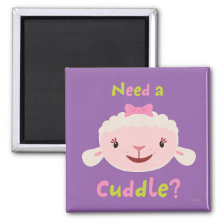 Lambie - Need a Cuddle 2 Inch Square Magnet