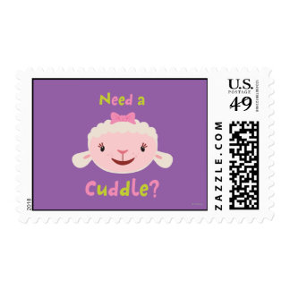 Lambie - Need a Cuddle Postage Stamp