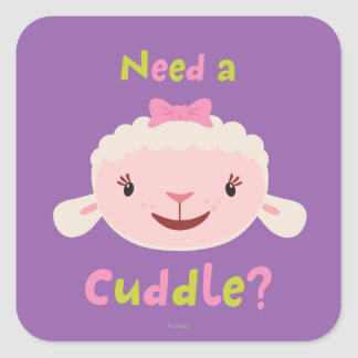 Lambie - Need a Cuddle Square Sticker