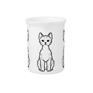 Lambkin Dwarf Cat Cartoon Beverage Pitcher