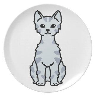 Lambkin Dwarf Cat Cartoon Dinner Plate