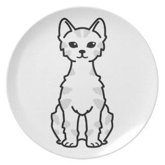 Lambkin Dwarf Cat Cartoon Melamine Plate