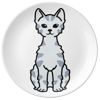 Lambkin Dwarf Cat Cartoon Plate