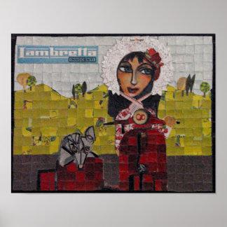 Lambretta - Bonorand Art Poster