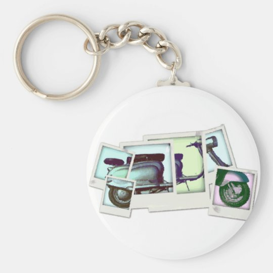 lambretta photo montage keychain