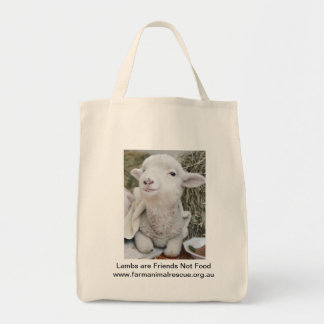 Lambs are Friends Not Food Tote Bag