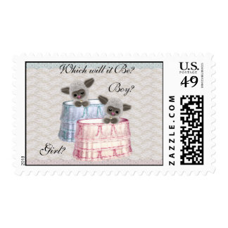 Lambs Baby Gender Reveal Party Postage