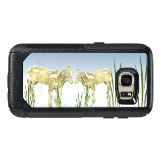 Lambs with Green Grass OtterBox Galaxy S7 Case