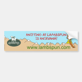 lambspun del knirvana que hace punto etiqueta de parachoque