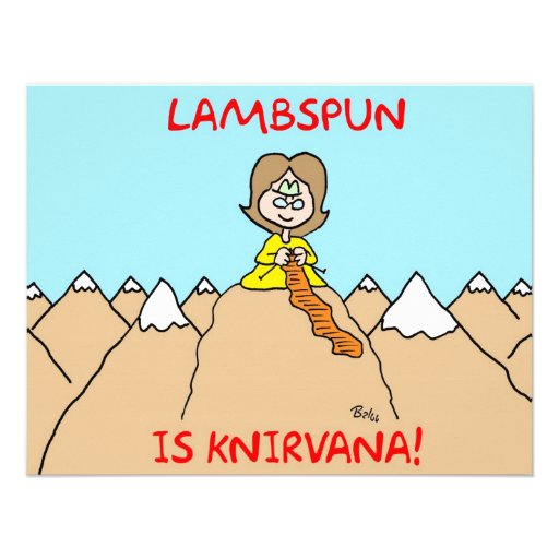 lambspun del knirvana que hace punto comunicado personalizado