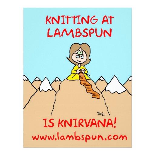 lambspun del knirvana que hace punto plantillas de membrete