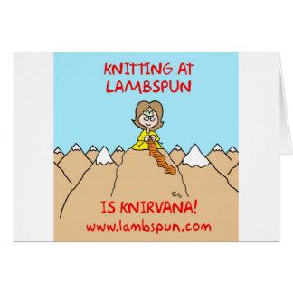 lambspun del knirvana que hace punto tarjeta de felicitación