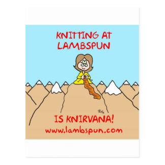 lambspun del knirvana que hace punto tarjeta postal
