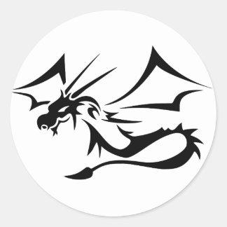 Lambton el dragón negro pegatina redonda