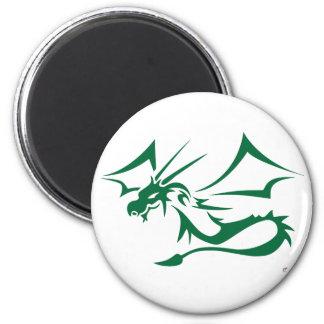 Lambton el dragón verde imán redondo 5 cm