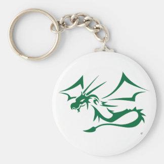 Lambton el dragón verde llavero redondo tipo pin