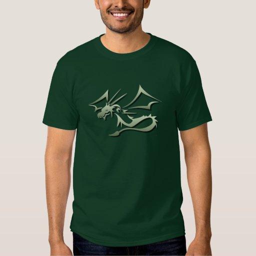 Lambton el dragón verde metálico playera