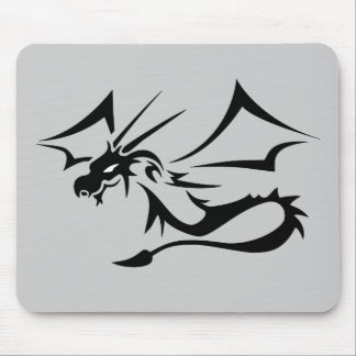 Lambton the Black Dragon Mouse Pad