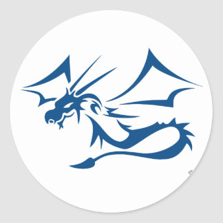 Lambton the Blue Dragon Classic Round Sticker