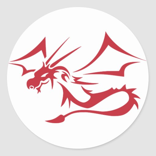 Lambton the Red Dragon Classic Round Sticker