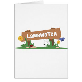 LambWatch Logo! Card