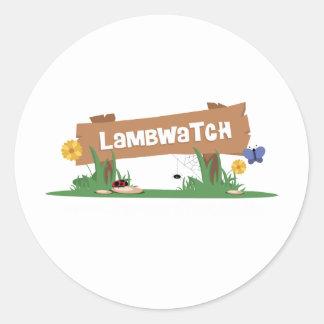 LambWatch Logo! Classic Round Sticker