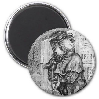 Lame Bear - Letter L - Vintage Teddy Bear Fridge Magnets