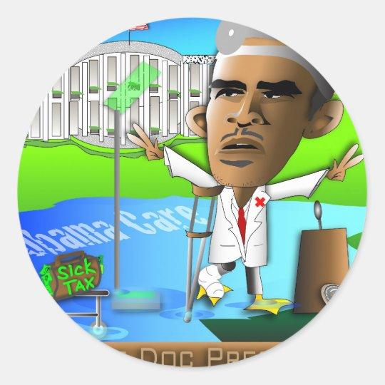 Lame Doc President Classic Round Sticker