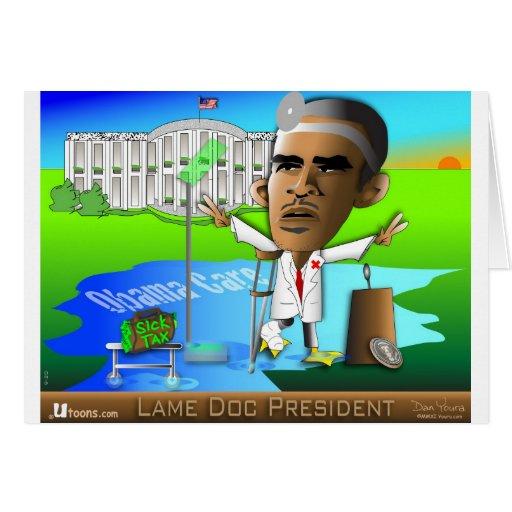 Lame Doc President Greeting Card